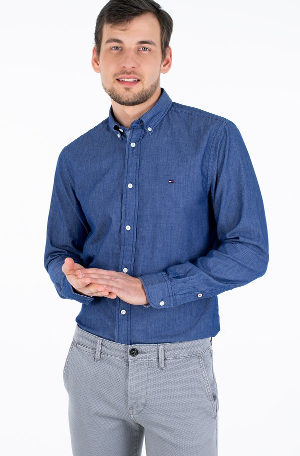 TWO TONE STRIPE DOBBY SHIRT