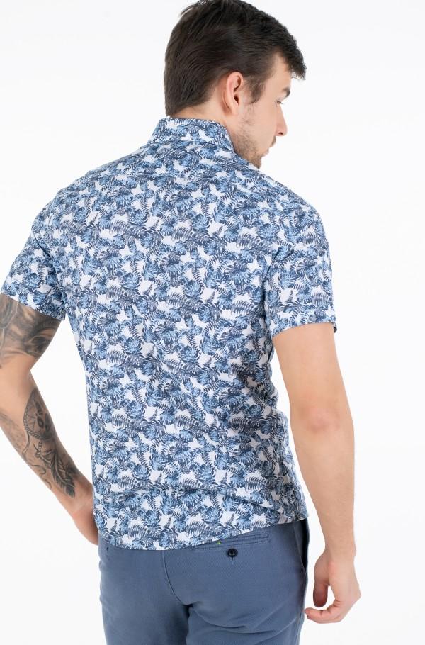 WASHED LEAVES PRINT SS SHIRT-hover