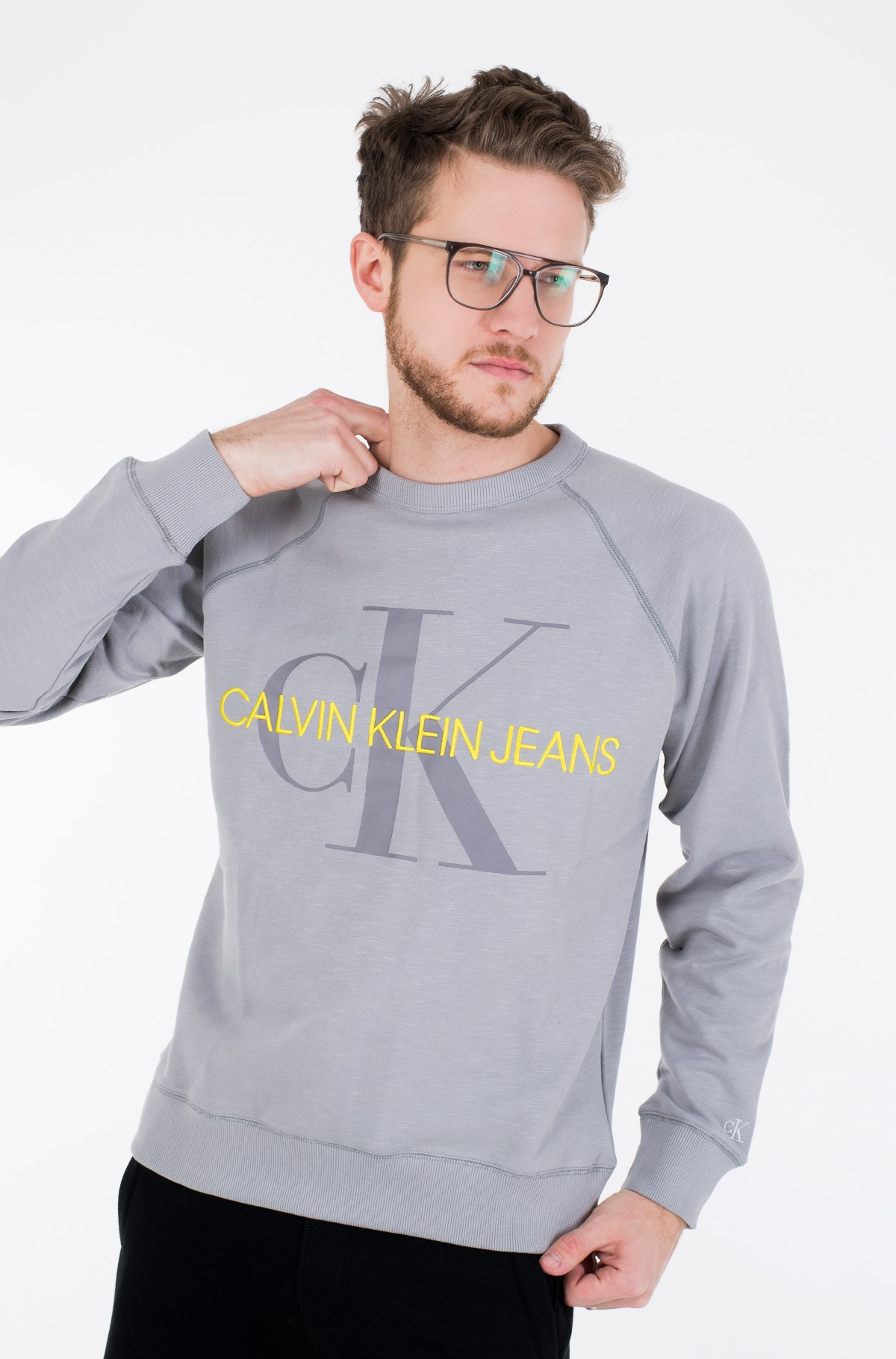 Džemperis VEGETABLE DYE MONOGRAM CREW NECK-full-1