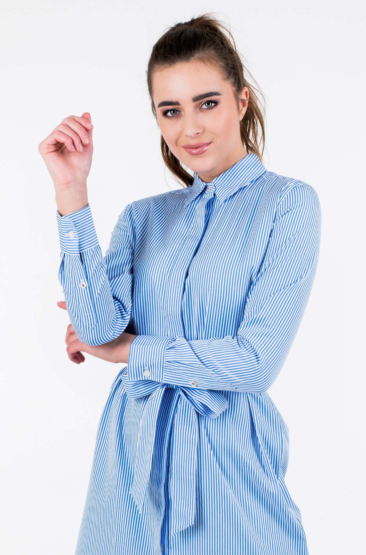 Suknelė TH ESSENTIAL SHIRT DRESS LS-full-1