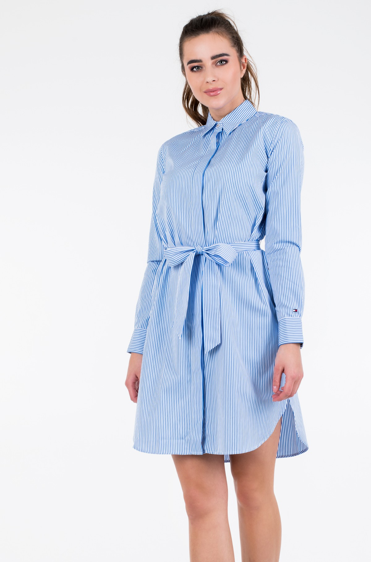 Suknelė TH ESSENTIAL SHIRT DRESS LS-full-2