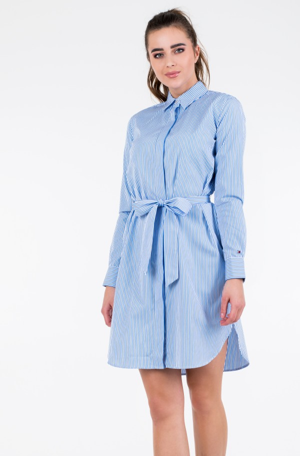 TH ESSENTIAL SHIRT DRESS LS-hover
