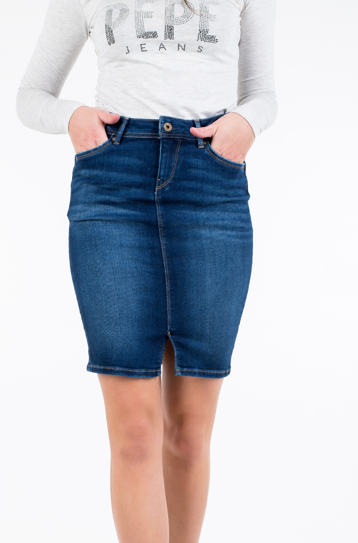 Denim skirt  TAYLOR/PL900443DB4-full-1