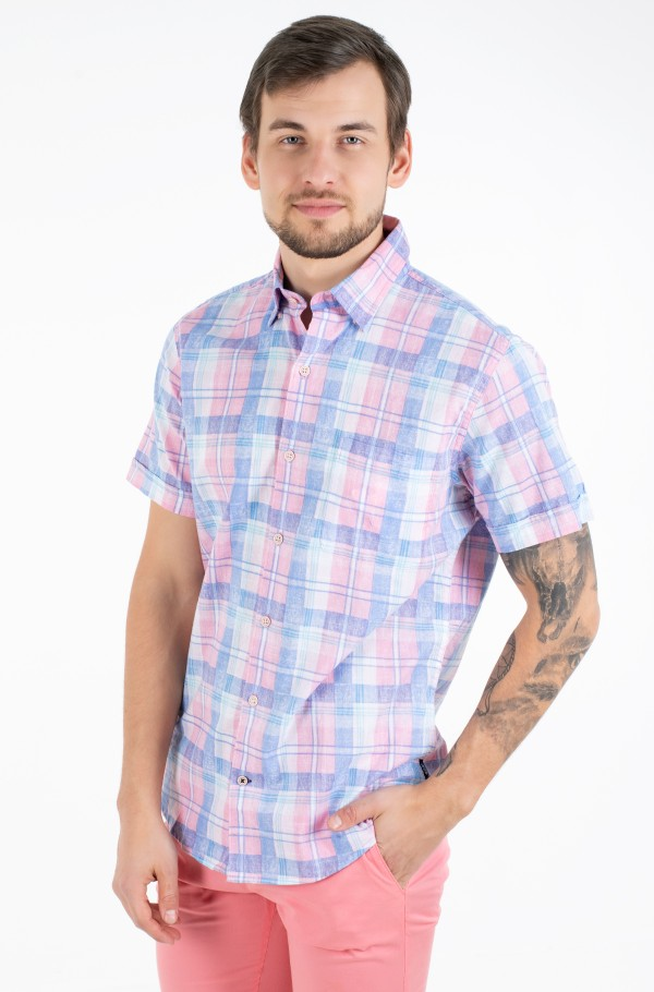 DOCKSIDE PLAID PRINT SS SHIRT