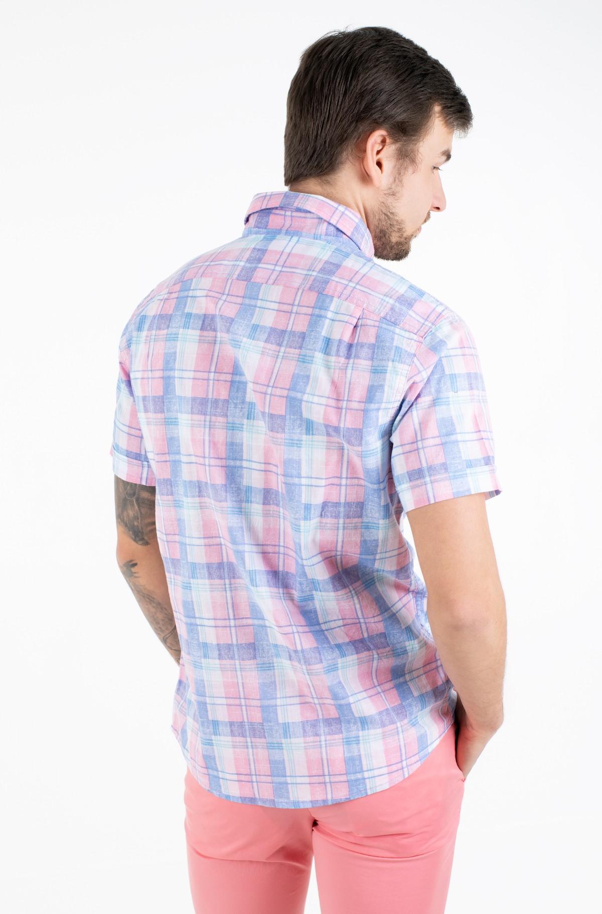 Marškiniai su trumpomis rankovėmis DOCKSIDE PLAID PRINT SS SHIRT-full-2