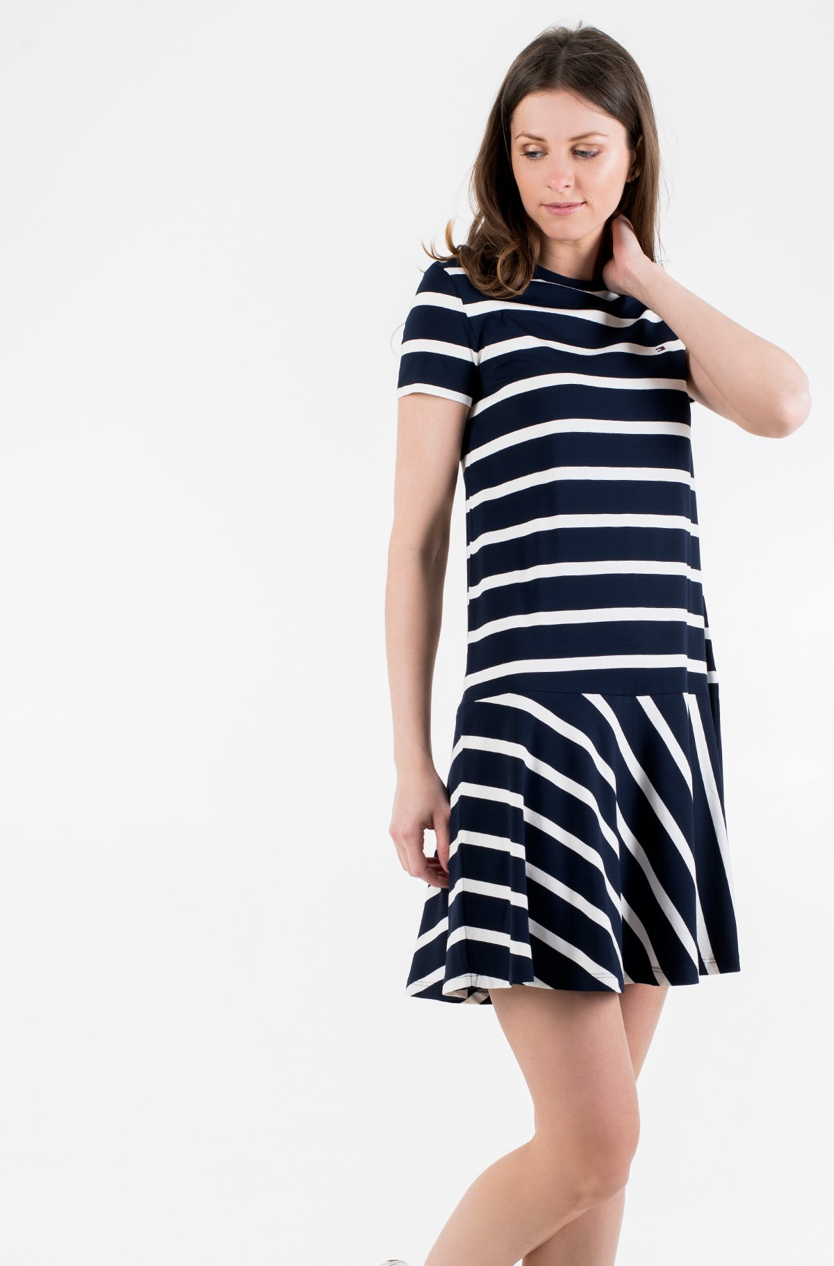 Suknelė TIFFANY RELAXED STP C-NK DRESS-full-1