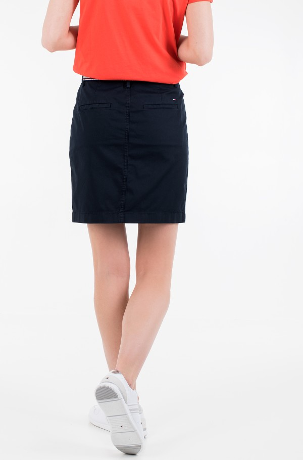 GMD COTTON TENCEL SLIM SKIRT-hover