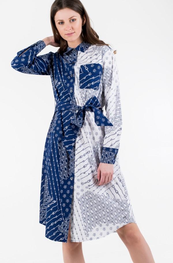 MILLIE PRT SHIRT DRESS LS-hover