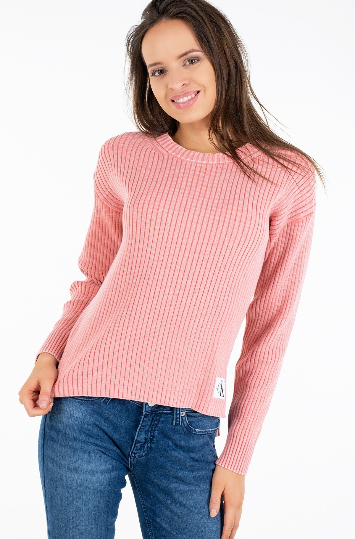Kampsun RELAXED WASHED RIB SWEATER-full-1