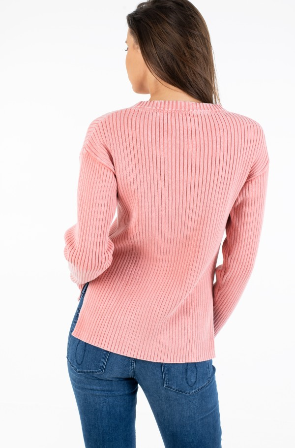 RELAXED WASHED RIB SWEATER-hover
