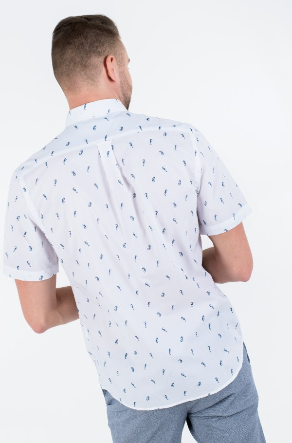 BREEZE SEAHORSE PRINT SS SHIRT-hover