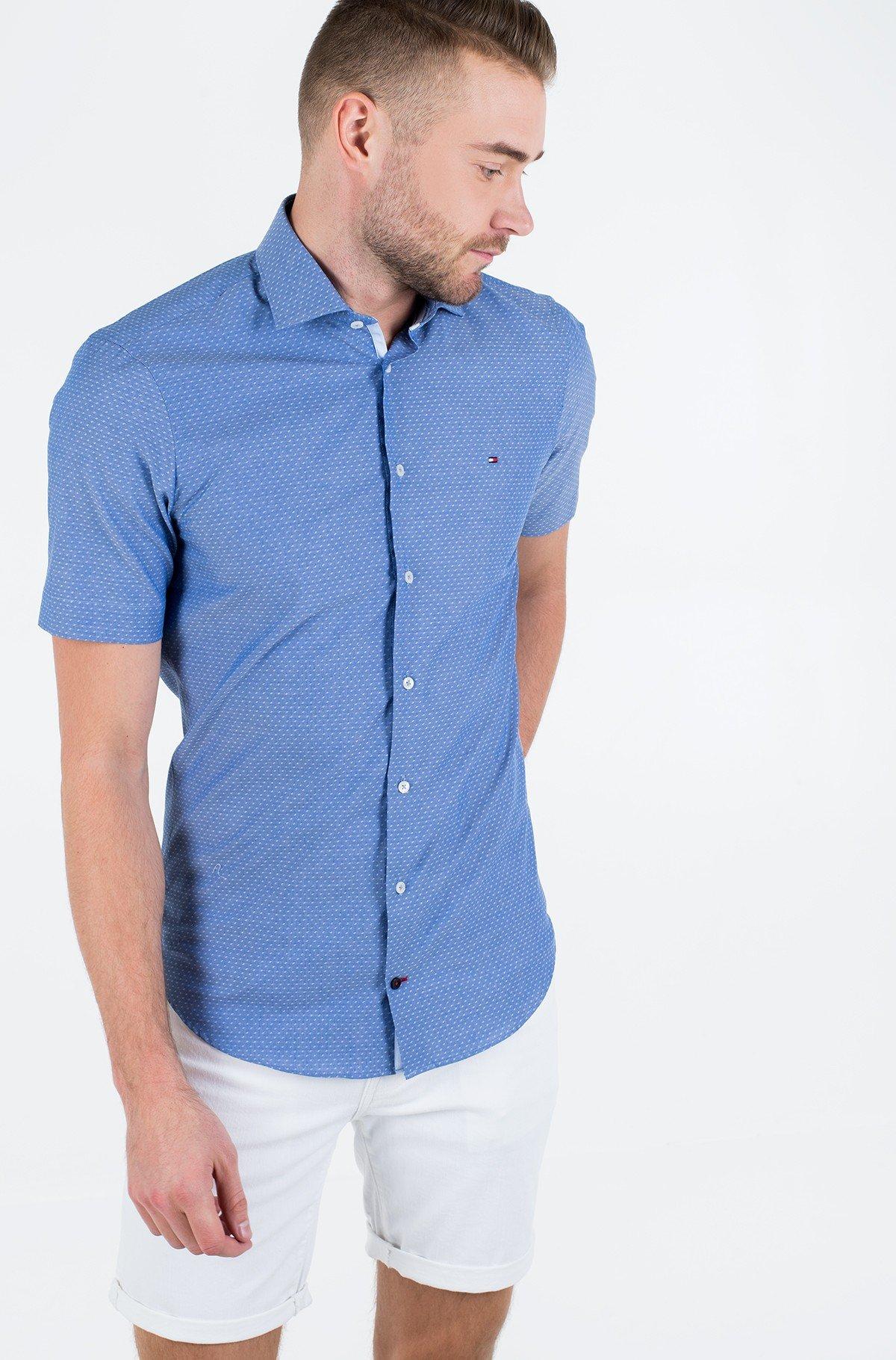 Marškiniai su trumpomis rankovėmis DOBBY CLASSIC S/S SLIM SHIRT-full-1