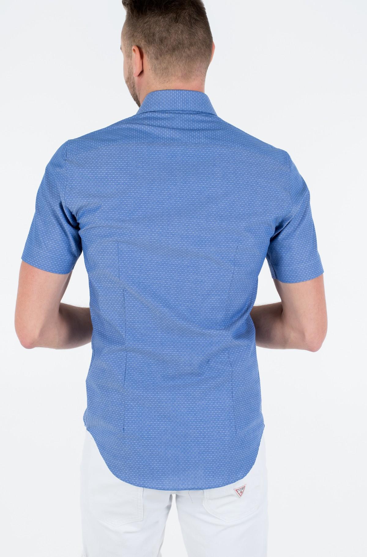 Marškiniai su trumpomis rankovėmis DOBBY CLASSIC S/S SLIM SHIRT-full-2