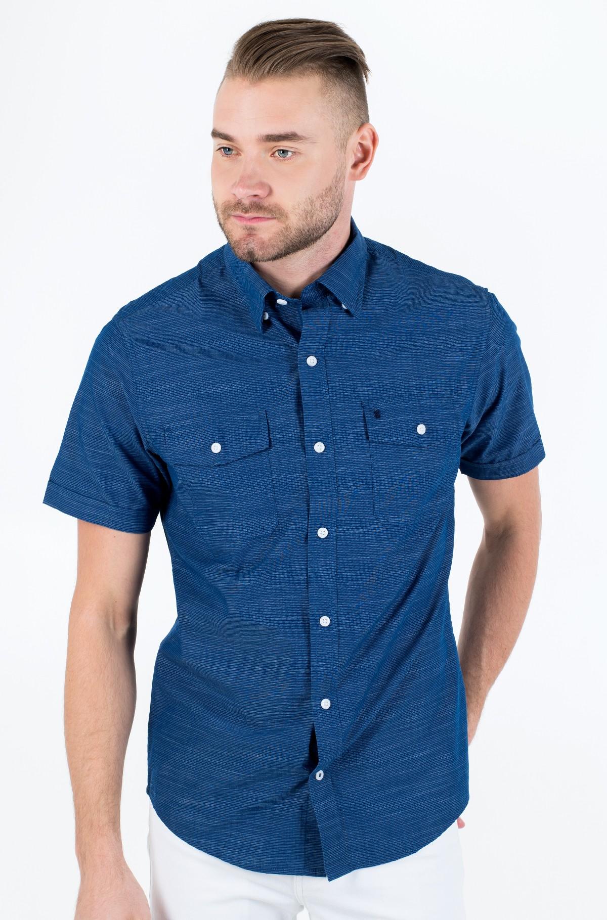 Marškiniai su trumpomis rankovėmis WASHED DOBBY STRIPE SS SHIRT-full-1