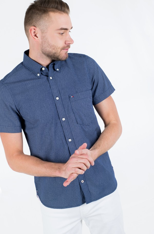 SLIM SMALL DOT PRINT SHIRT S/S