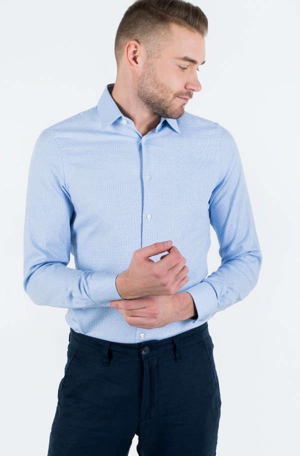 DOBBY POINT COLLAR SLIM SHIRT