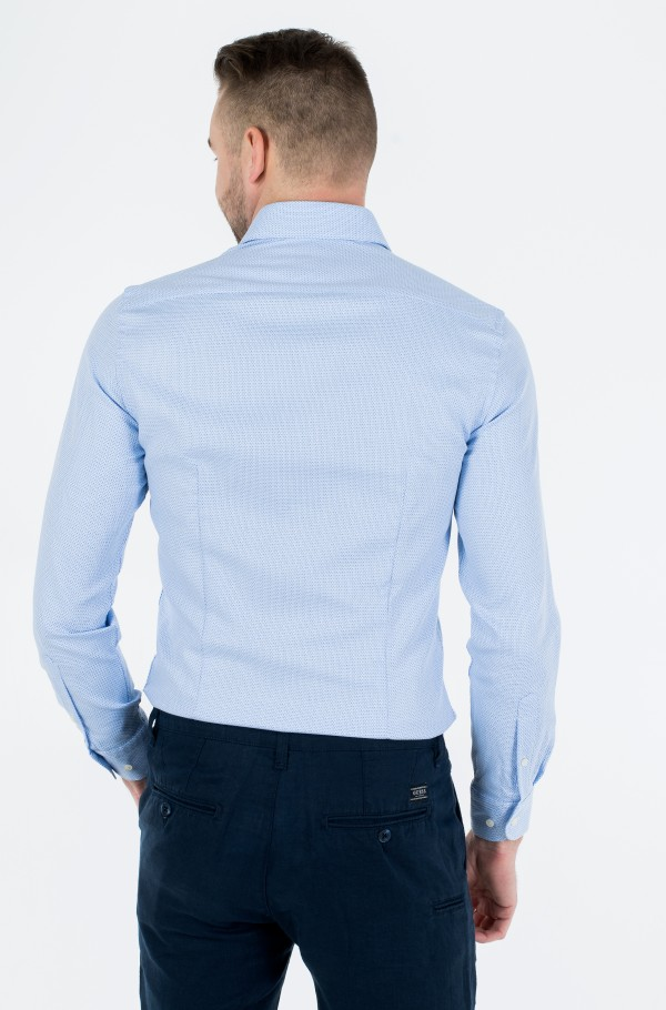 DOBBY POINT COLLAR SLIM SHIRT-hover