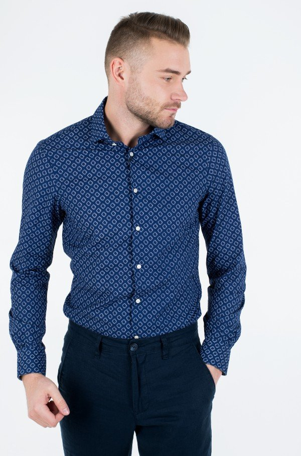 WASHED PRINT CLASSIC SLIM SHIRT