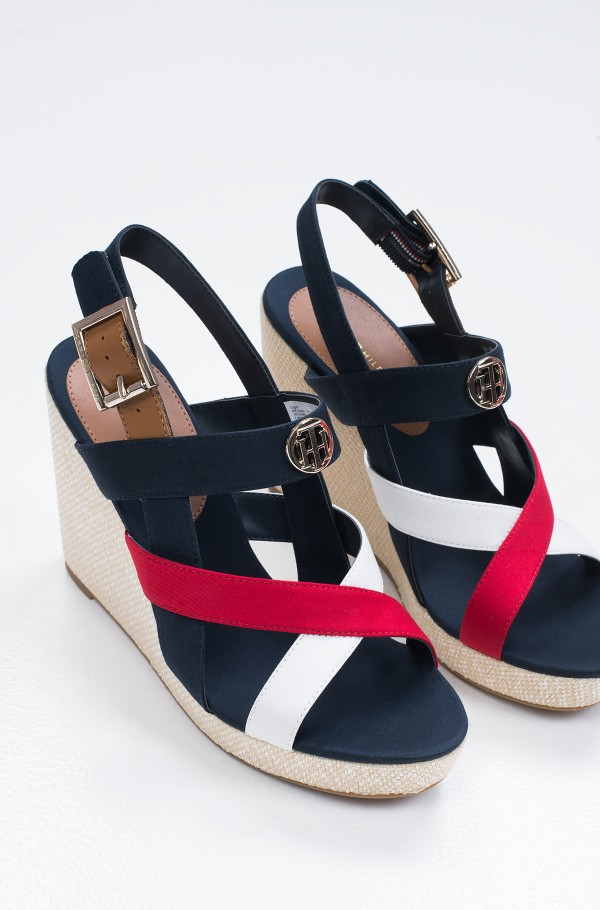 BASIC HARDWARE HIGH WEDGE SANDAL