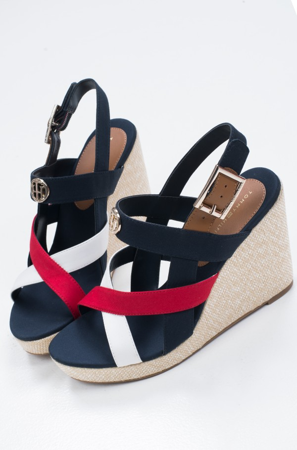 BASIC HARDWARE HIGH WEDGE SANDAL-hover