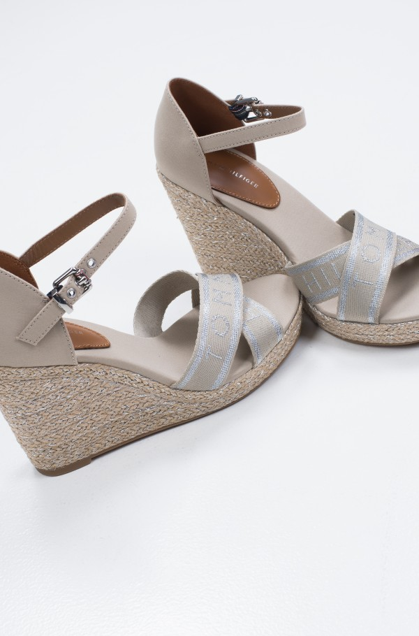 TOMMY METALLIC HIGH WEDGE SANDAL