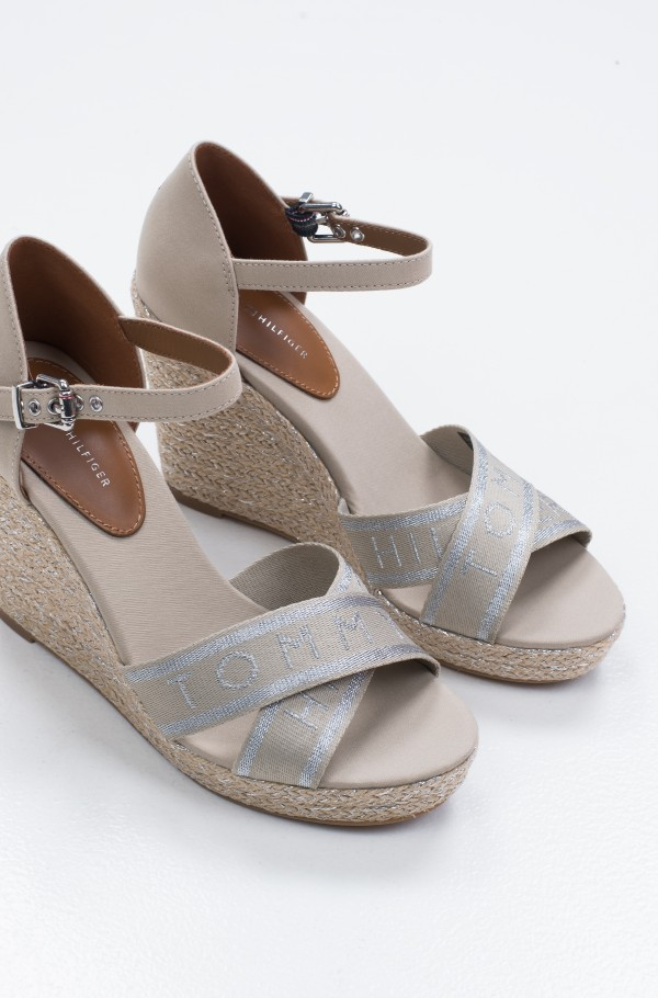 TOMMY METALLIC HIGH WEDGE SANDAL-hover