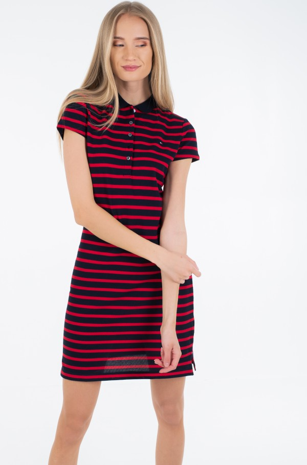 SLIM STRIPE POLO DRESS