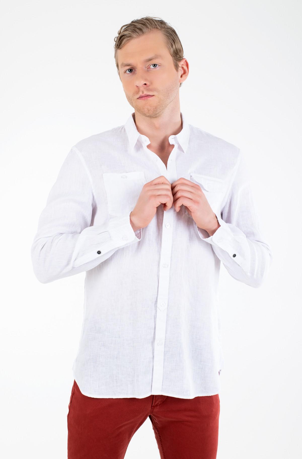Lininiai marškiniai M02H46 WBGX0-full-1