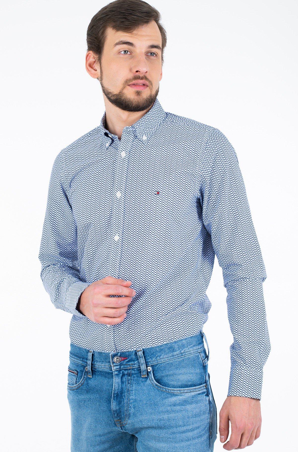 Marškiniai SLIM NATURAL SOFT PRINTED SHIRT-full-1
