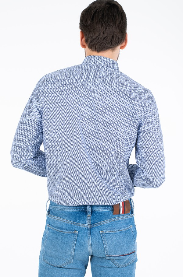 SLIM NATURAL SOFT PRINTED SHIRT-hover