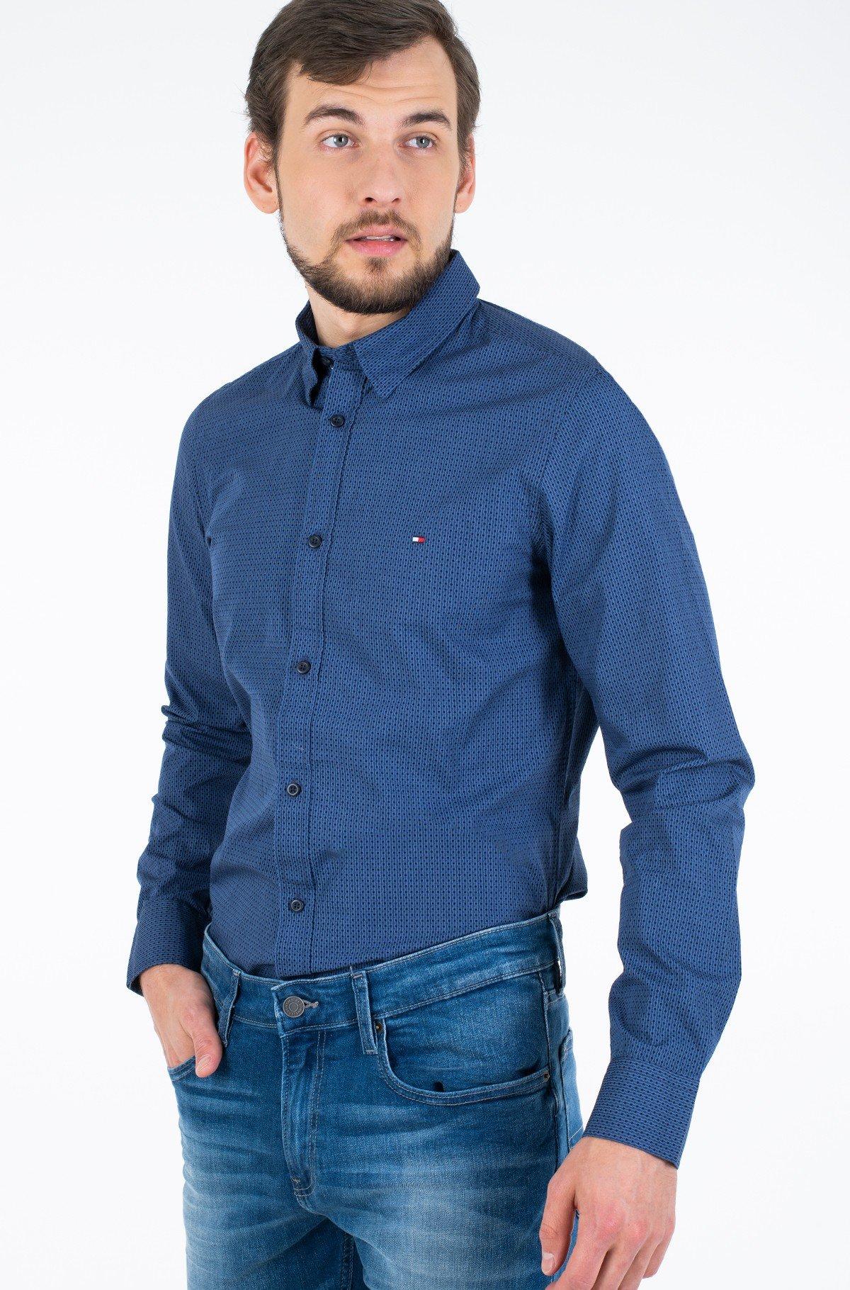 Marškiniai SLIM SQUARE PRINT SHIRT-full-1