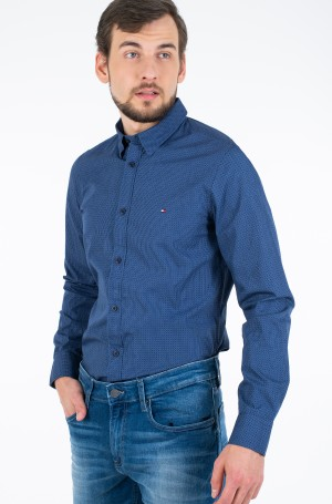 Marškiniai SLIM SQUARE PRINT SHIRT-1