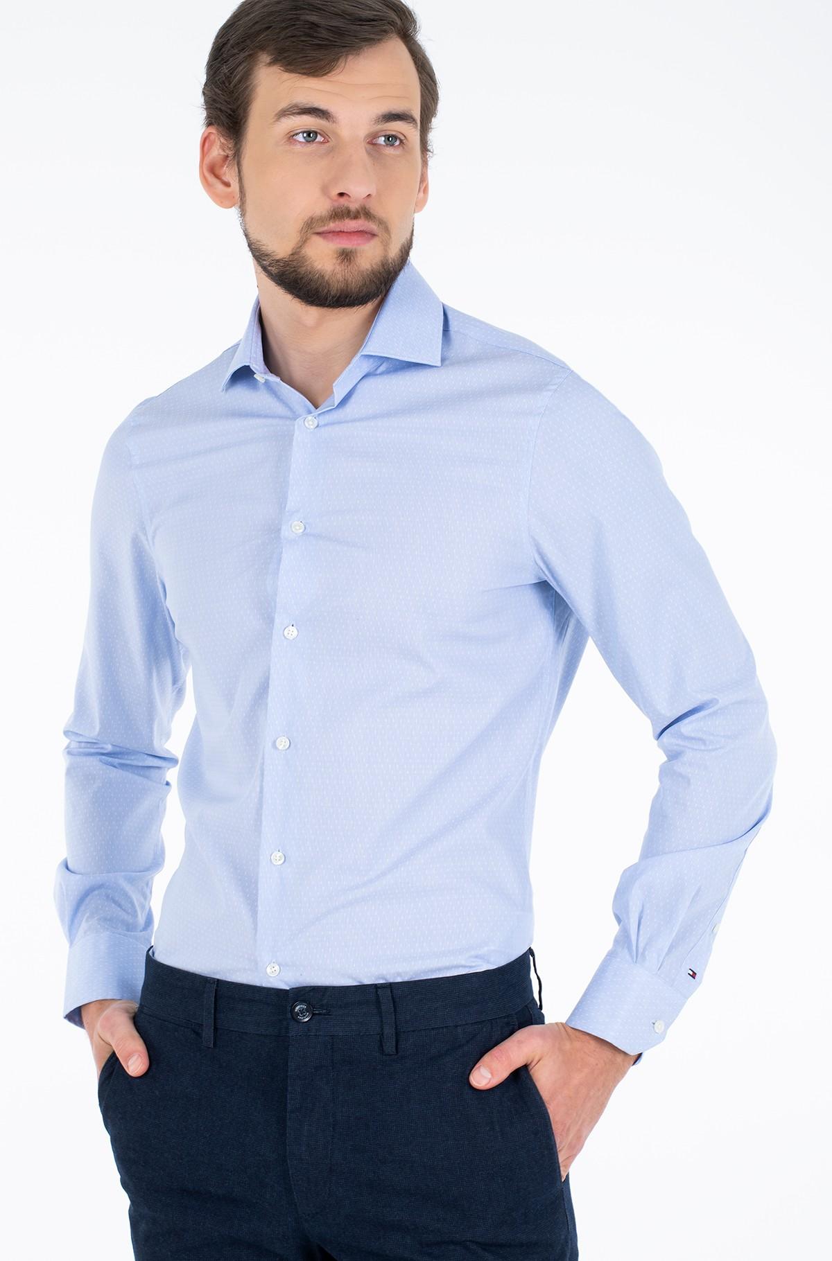 Marškiniai DOBBY FLEX COLLAR SLIM SHIRT-full-1