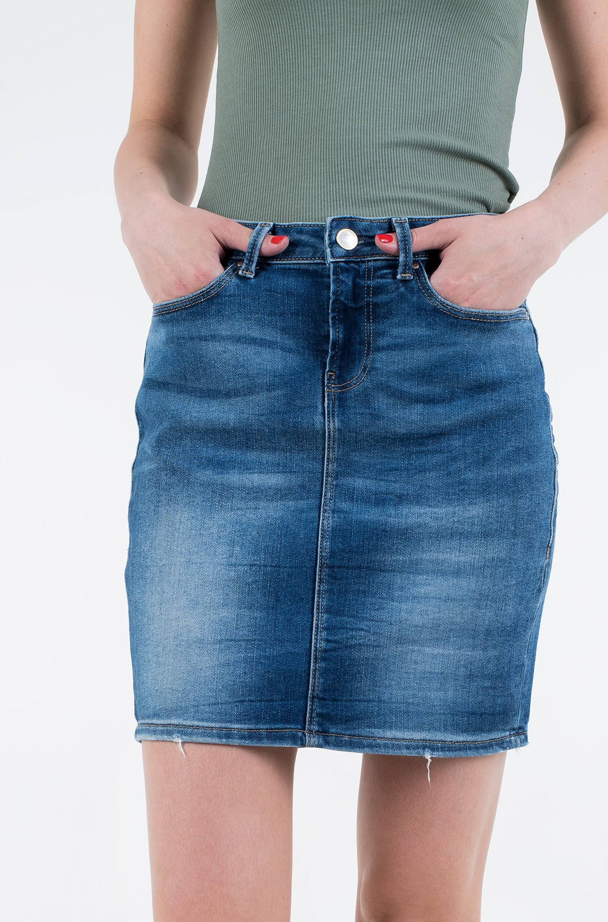 Denim skirt  W01D80 D38R8-full-1