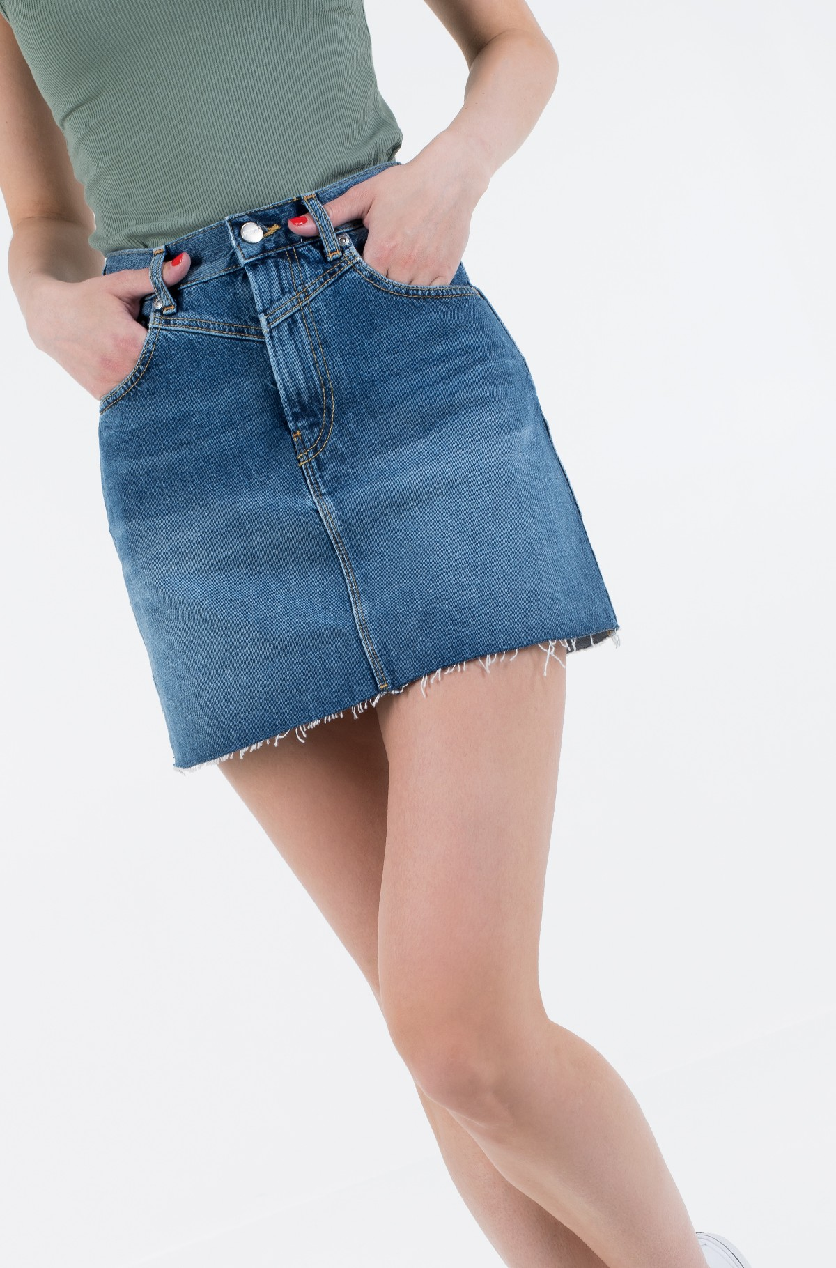 Denim skirt  RACHEL SKIRT/PL900877HD3-full-1