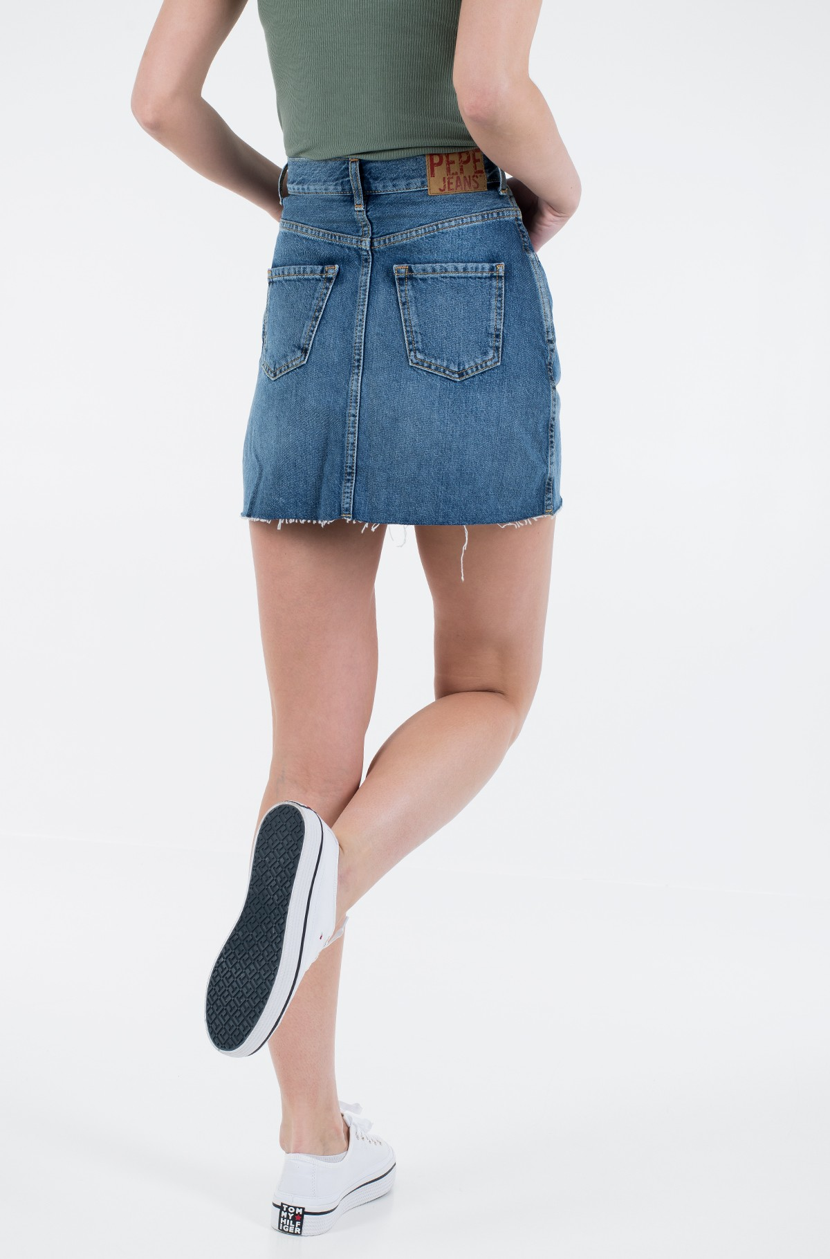 Denim skirt  RACHEL SKIRT/PL900877HD3-full-2