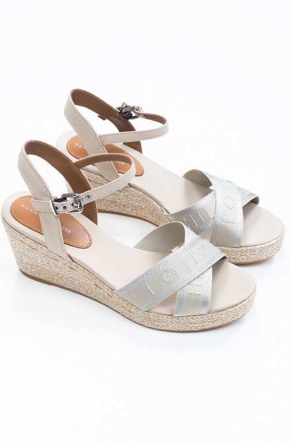 TOMMY METALLIC MID WEDGE SANDAL