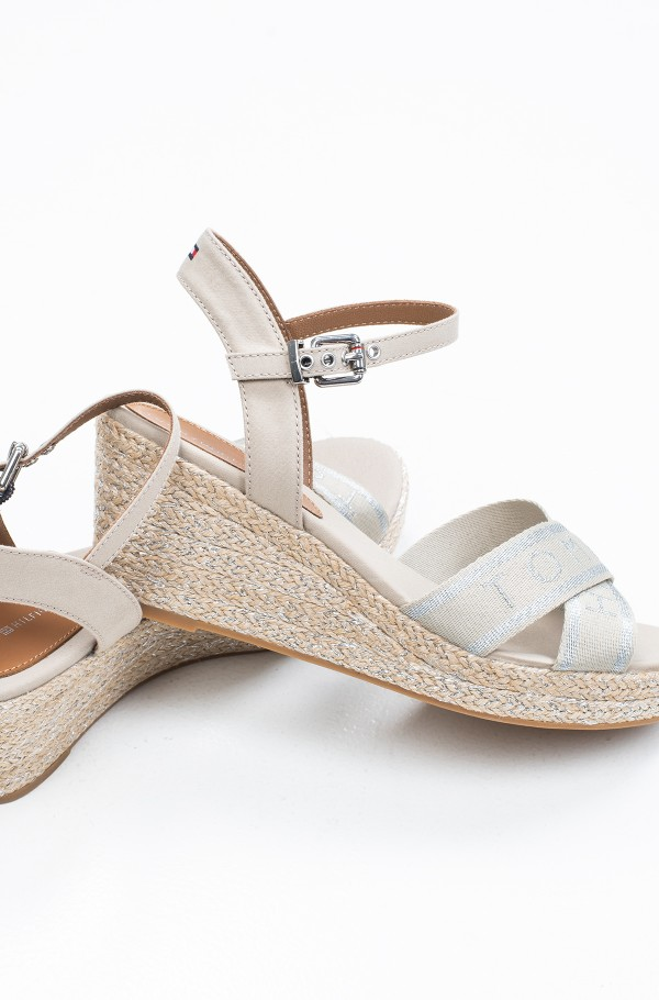 TOMMY METALLIC MID WEDGE SANDAL-hover