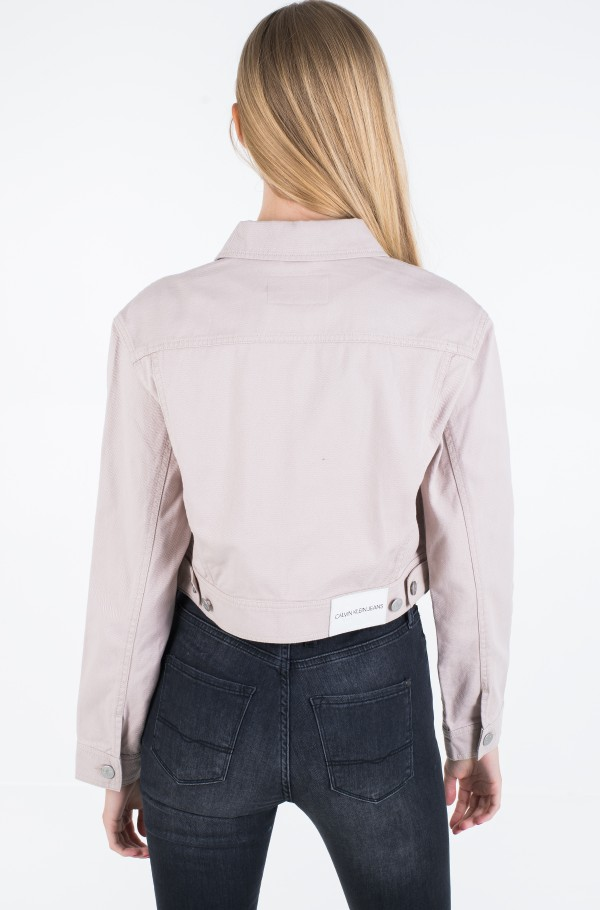 CROPPED TWILL JACKET-hover