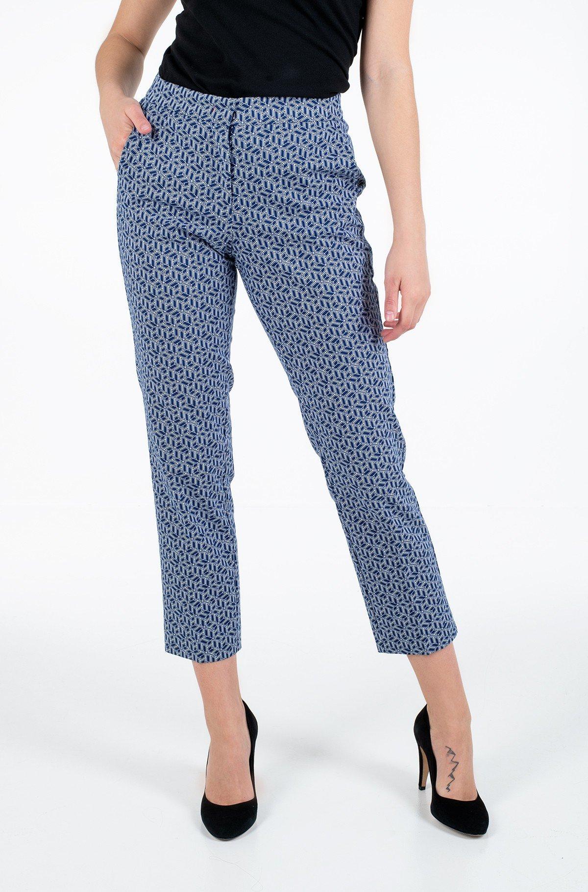 Trousers SLUB COTTON SLIM PANT-full-2