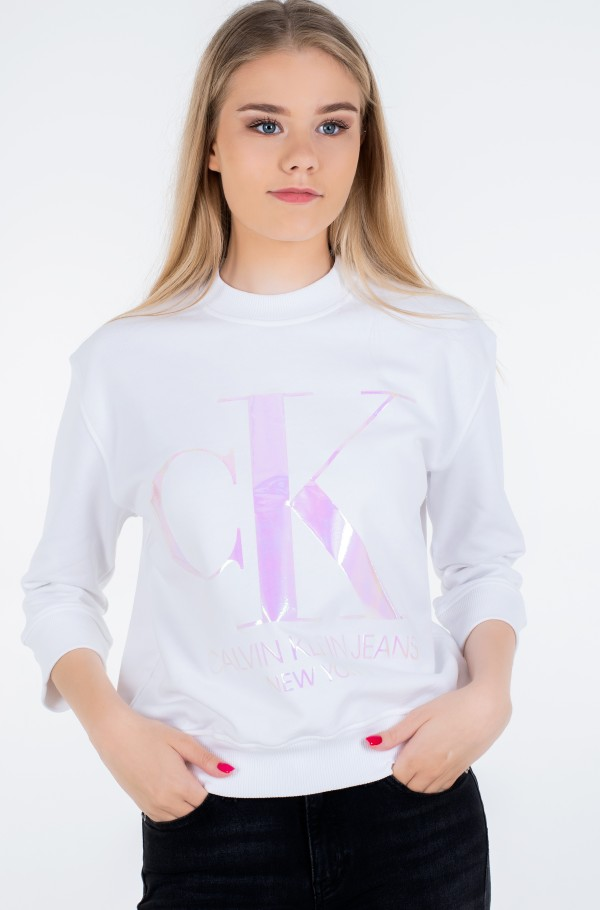 IRIDESCENT MONOGRAM CREW NECK