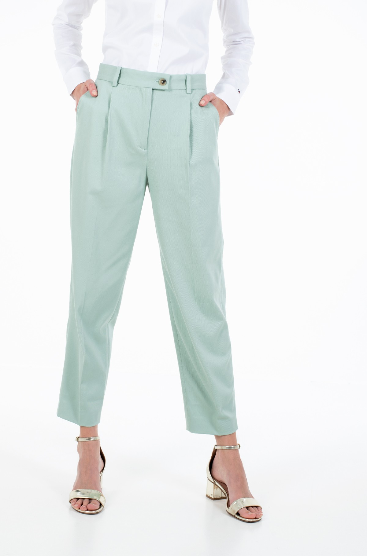 Viigipüksid COTTON PASTEL TAPERED PANT-full-1