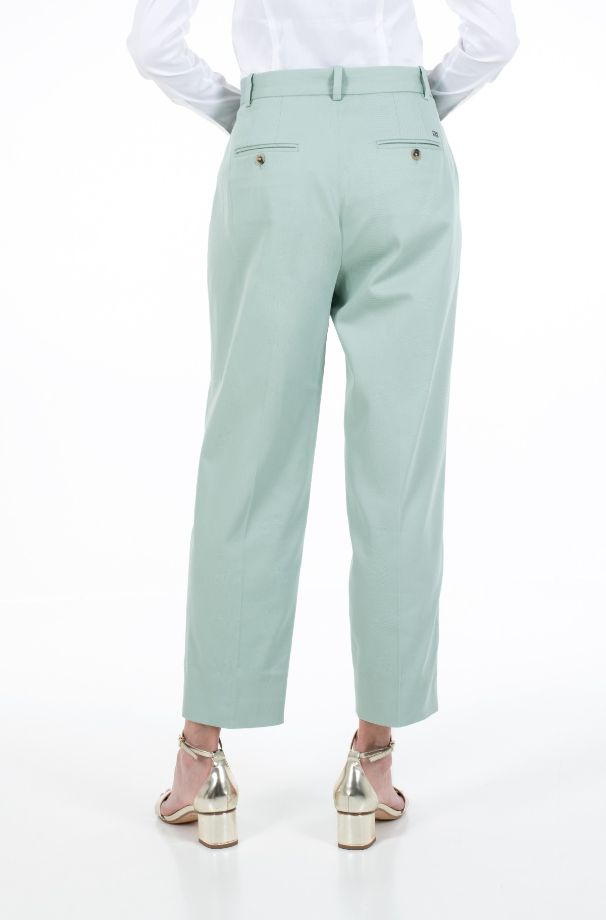 Kelnės su kantu COTTON PASTEL TAPERED PANT-full-2