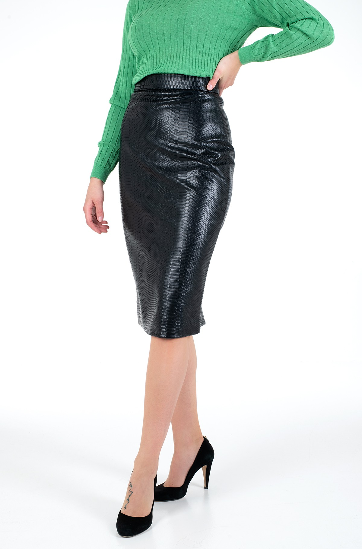 Leather skirt W01D76 WCKL0	-full-1