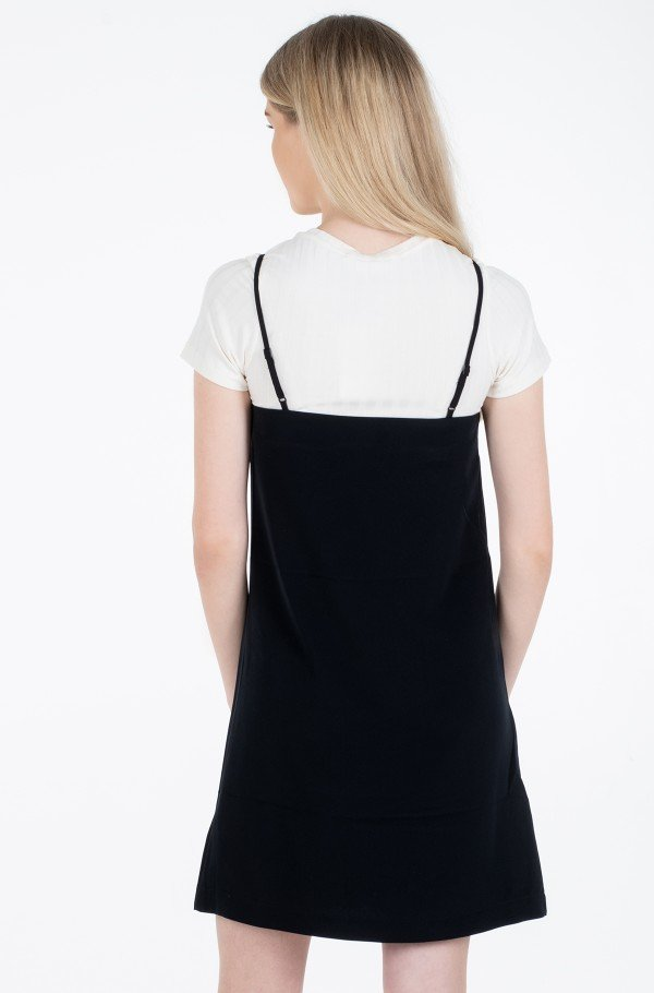 MONOGRAM SLIP DRESS-hover