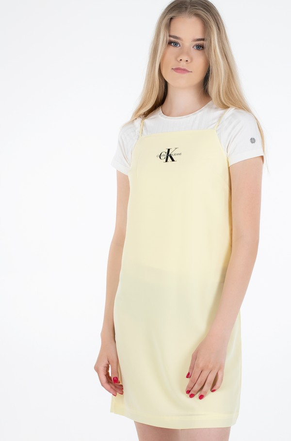 MONOGRAM SLIP DRESS