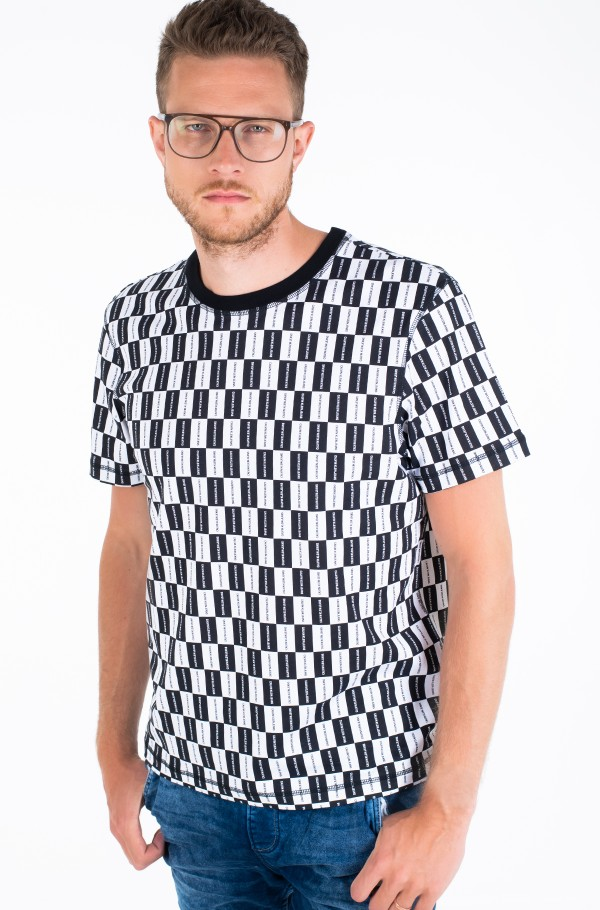 AOP CHECKERBOARD RELAXED TEE