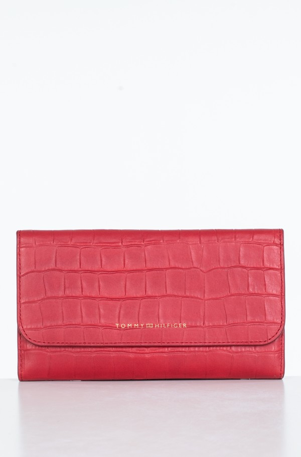 SOFT TURNLOCK WALLET W FLAP CROC