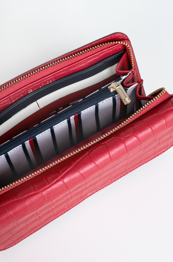 SOFT TURNLOCK WALLET W FLAP CROC-hover