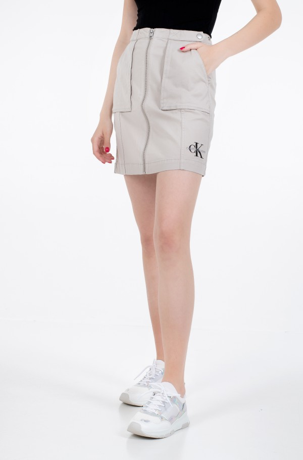 COTTON TWILL UTILITY SKIRT